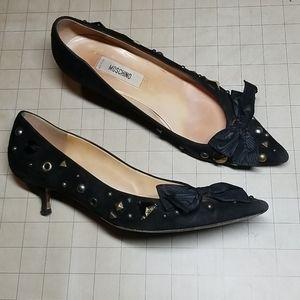 Moschino Kitten Heel Pumps with Beading 7